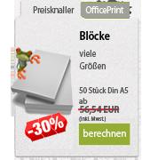 Online Druckportal. Blöcke