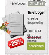 Online Druckerei. Briefbogen